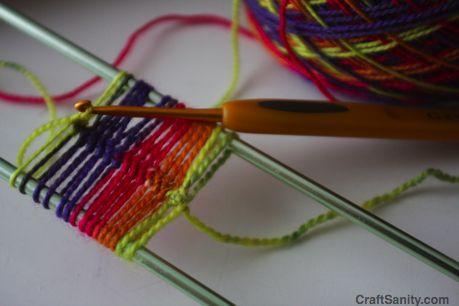 Hairpin lace crochet