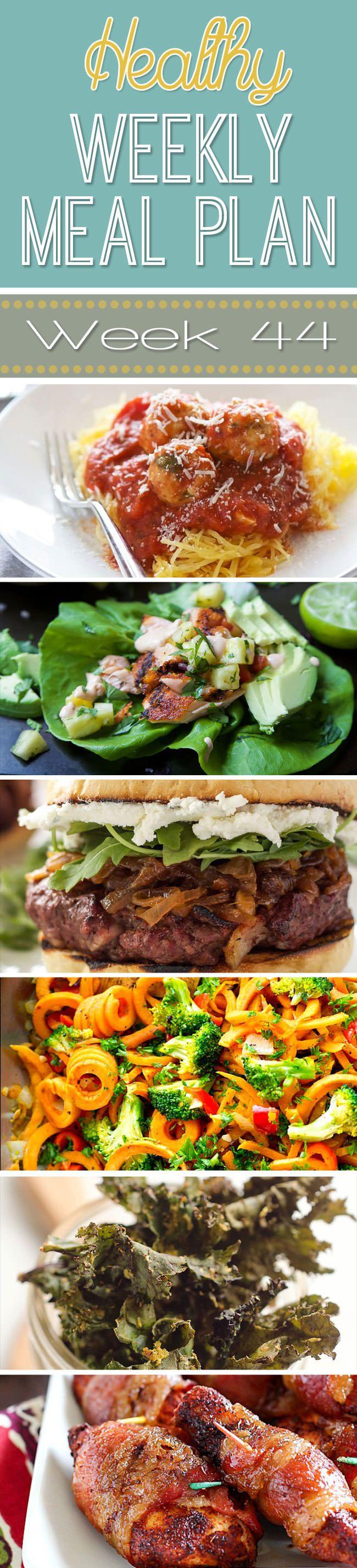 Healthy Meal Plan Week 44