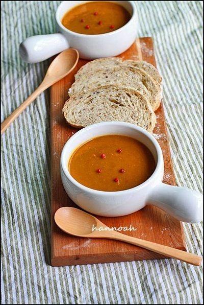 カフェ風☆ココナッツカレー 人参スープ by hannoahさん | レシピ ...
