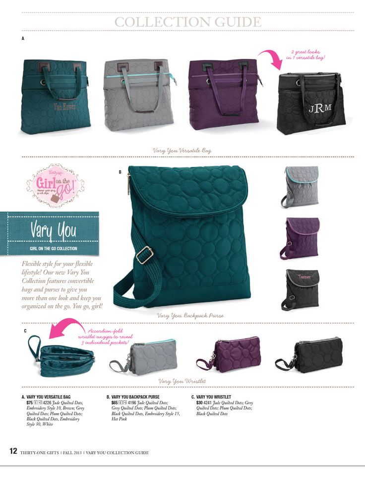 Vary You purse line | Thirty-One | Pinterest | Purse, Gift and 31 ...