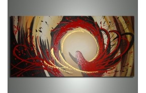 Abstract Oil Painting 146s-32x16in - Price: $100. Grab it from here, http://abstractartwork.com/oil-painting-metal-wall-art-bestsellers?product_id=5057