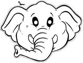 Fichas Infantiles: Caretas infantiles de animales