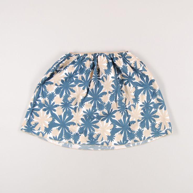 Falda estampada con flores de niña de color Azul de marca DOU UOD