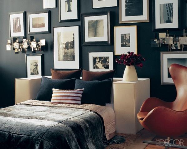 Dark Steel Blue Paint #bedrooms