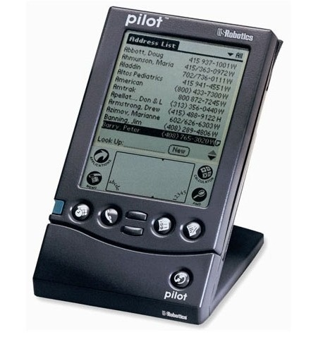Palm Pilot 1000    Manufacturer - Palm  Series - Pilot  Years of production - 1996  CPU - Motorola 68328| 16MHz  Rom - 4 Mb  Ram -128 Kb  Resolution - 160x160 | Monochrome  Weighs - 160g  System - PalmOS 1.0