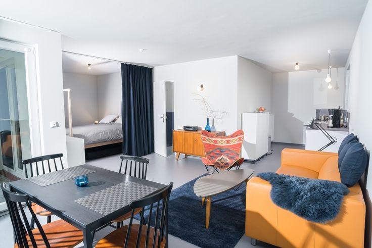 Ferienwohnung Cuxhaven: Blaue Lodge - ach ja, die Sixties.
