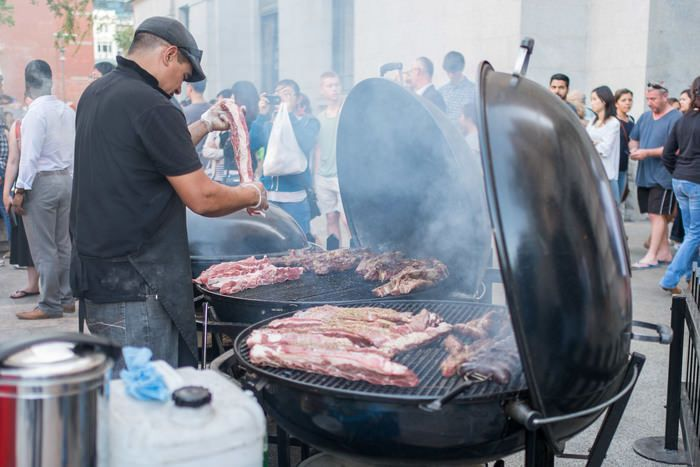 El Asador serves up Argentinean asado with the biggest slabs of meat on the biggest BBQs at the market. Twilight Markets in Perth