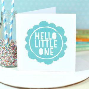 Hello Little One Baby Boy Card