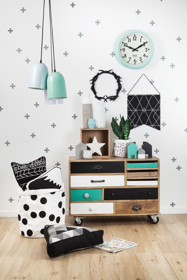 Black, White & Mint by General Eclectic Kid et deco - La touche d'Agathe - Children, child, room, bed, chambre , lit, playroom, salle de jeux,