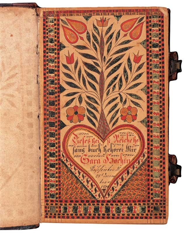 BOOKPLATE FOR SARA HOCH | American Folk Art Museum.David Kulp (1777–1834)  Bucks County, Pennsylvania  1808  Watercolor and ink on paper