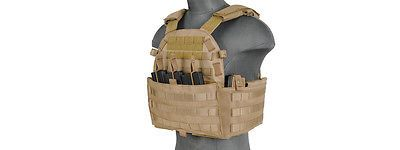 Chest Rigs and Tactical Vests 177891: Lancer Tactical Airsoft Plate Carrier Vest Triple Inner Mag Pouch Tan Ca-311T2 -> BUY IT NOW ONLY: $67.99 on eBay!