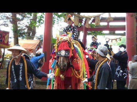 チャグチャグ馬コ 2014 馬たちが蒼前神社へ参拝
