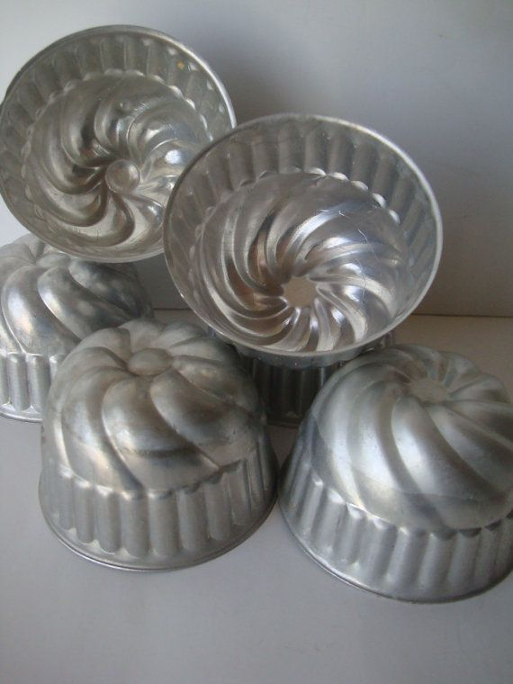 Vintage Tin Tart Jello or Candy Molds  Lot of by HighPointFarm2010, $10.00