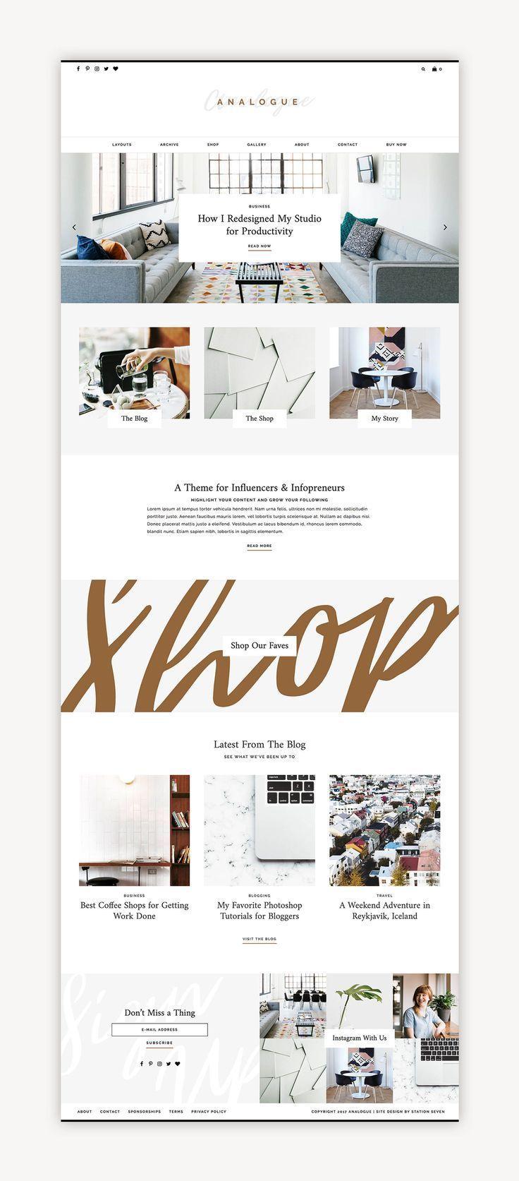 Analogue Wordpress Theme With Images Layout Design Inspiration
