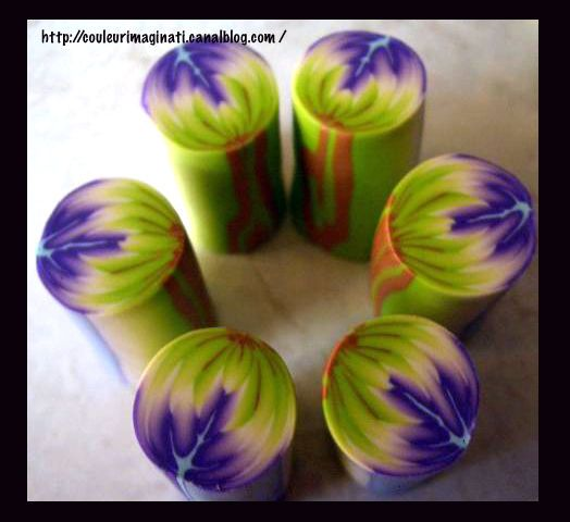 Polymer Clay Petal Cane Tutorial (Not in English) by CouleurImaginati