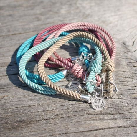 Nautical Rope w/ Small Anchor - The Anchors Aweigh Bracelet