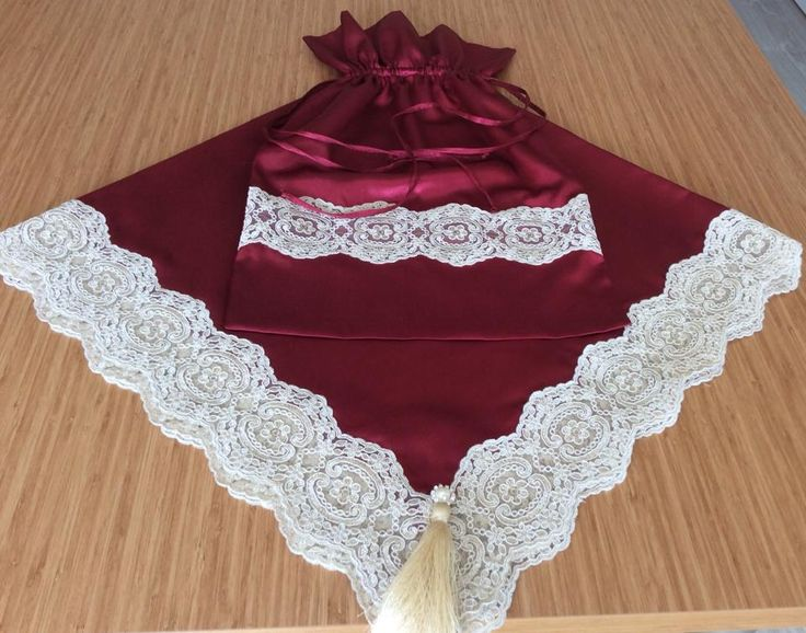 prayer bundle dowry seccade bohça terlik kesesi dantel