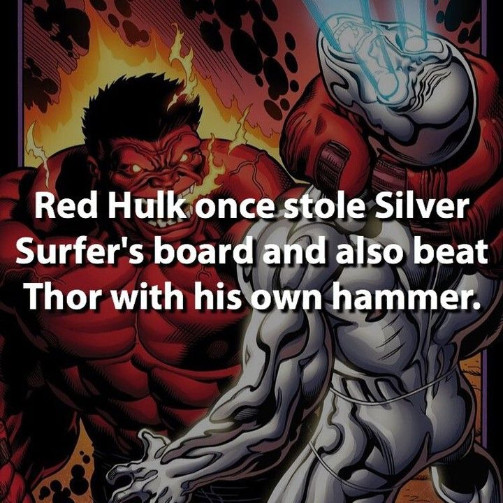 just how frickin strong red hulk is