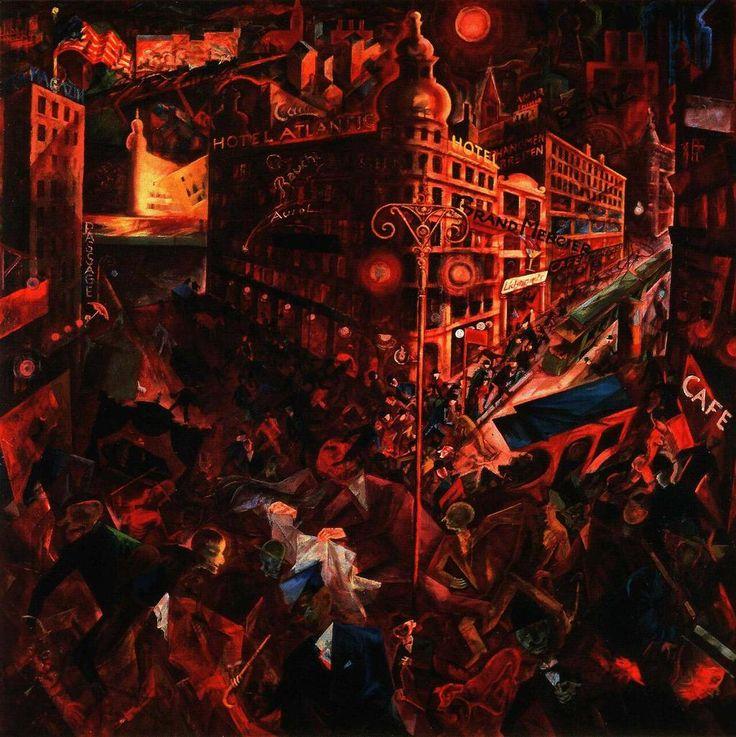 ジョージ・グロス 『大都会』(1916-17) George Grosz - Metropolis #新即物主義