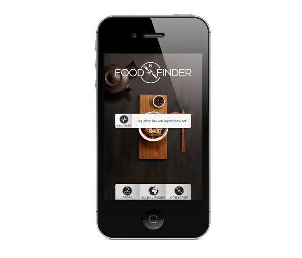 Food Finder. Logo & UI design by Ben Eshel, via Behance