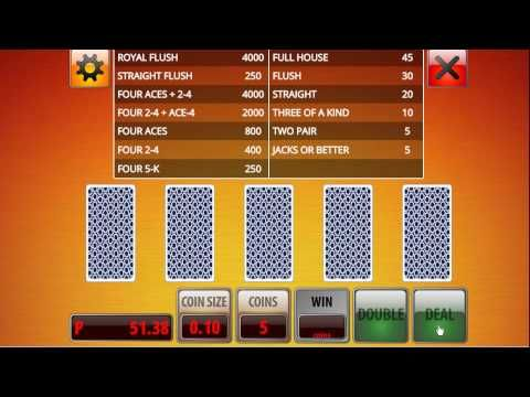 Atlantis Casino Online Video Poker Double Bonus