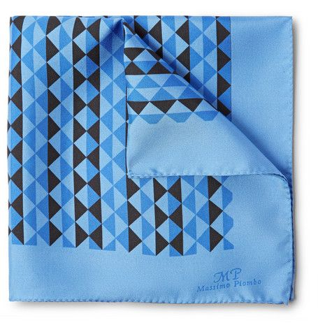 MP Massimo Piombo Printed Silk Pocket Square | MR PORTER