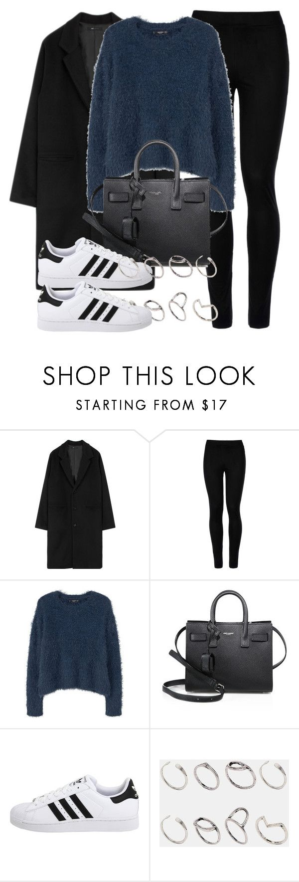 """""""Untitled #11869"""" by vany-alvarado ❤ liked on Polyvore featuring Wolford, MANGO, Yves Saint Laurent, adidas Originals and ASOS"""