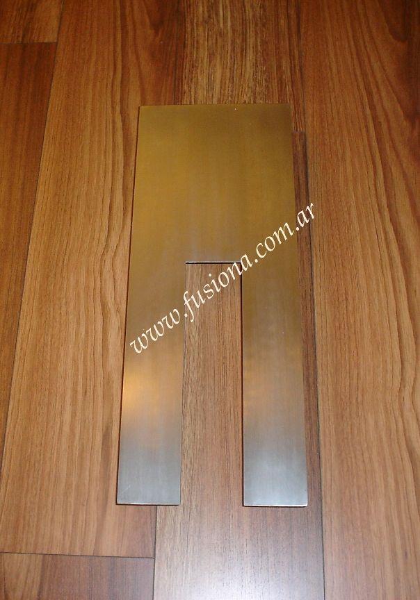 manijon calado de diseño en acero inoxidable