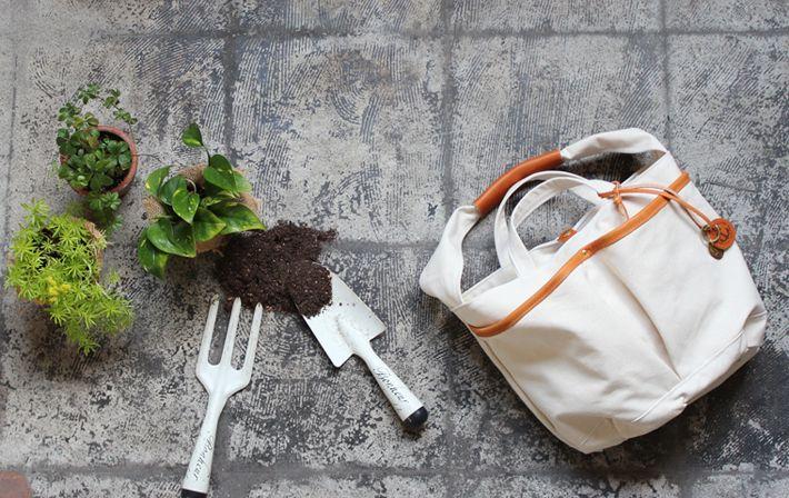 Garden:bucket(倉敷帆布トートバッグ) | 帆布トートバッグ、リネンバッグ、レザーグッズ| clueto(クルート)in 神戸