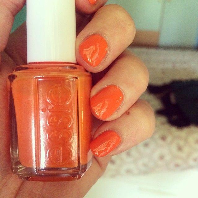 Nail polish summer upgrade #nail polish #Essie #nailpolish #fearordesire #summernail #smalto #arancione