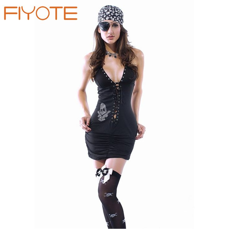 1327 new high quality women cosplay halloween costume for adult skull n guns pirate costume best - High Quality Womens Halloween Costumes