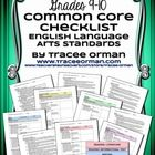 Common Core ELA Standards Checklists Grades 9-10  This IS included in my Common Core Bundle for Grades 9-12 AND Common Core ELA Standards Checklist...