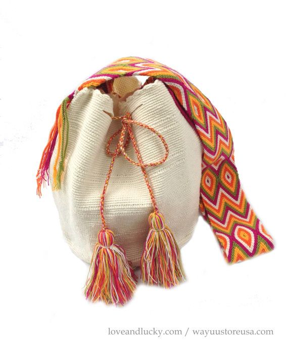 "Authentic Wayuu Bags Wayuu Mochilas Bag Size 11"" x 9"" - wybag-44 on Etsy, $89.00"