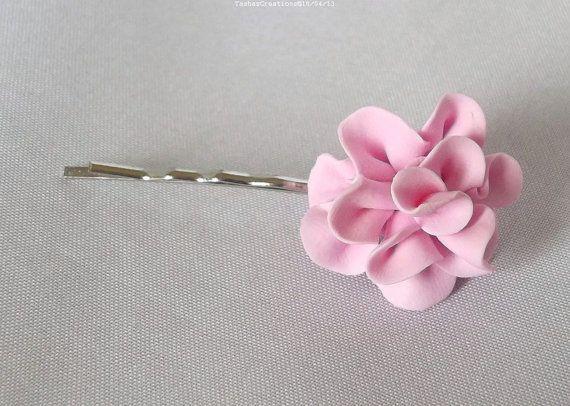 Wedding Flower Hair Accessories Pink Carnations by tashascreation, £7.50