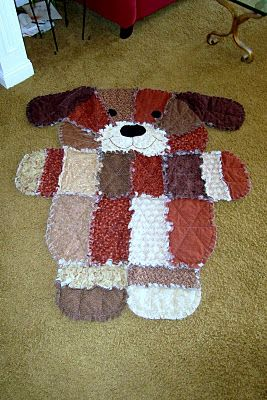 Puppy Rag Quilt My mom makes one of these for each of my kids!