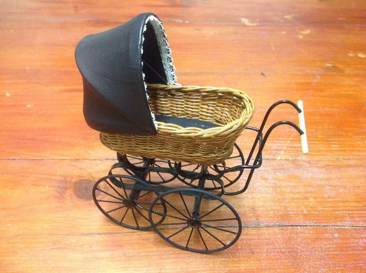 Colin & Yvonne Roberson 12th Scale Dollshouse Miniature Pram and Baby Doll | eBay