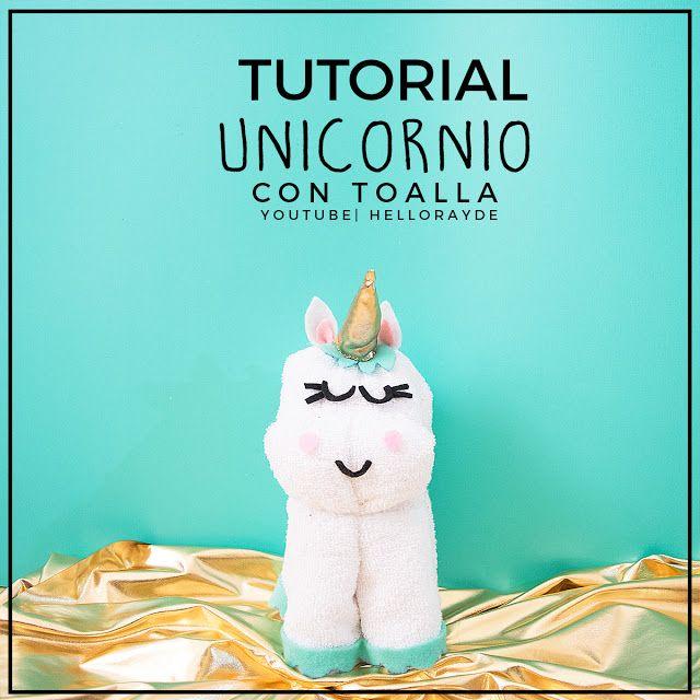 Unicornio hecho con toalla