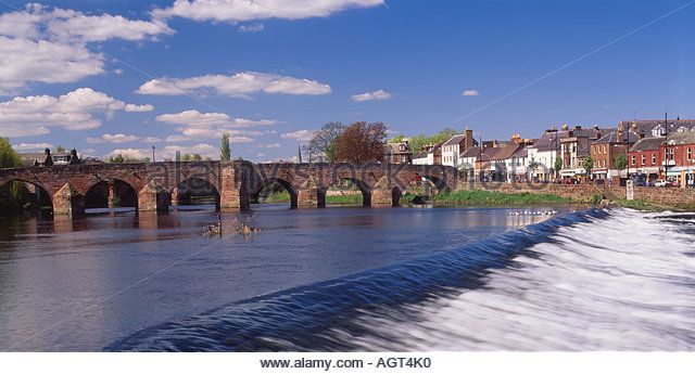 Dumfries, Dumfries and Galloway, Scotland, UK. Devorgilla Bridge over the River Nith - Stock Image
