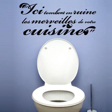 Stickers WC ici tombent en ruine, Citations, Citation humour – Stickers Malin