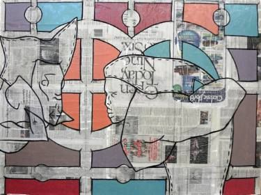 "Saatchi Art Artist Matthew Dibble; Painting, ""Decadent Messenger"" #art (oil and charcoal on canvas) 40x54"" 2016"