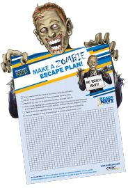 Does your family have an emergency escape plan?? Get your kids involved by submitting a Zombie escape plan to Ready.navy.mil - MilitaryAvenue.com