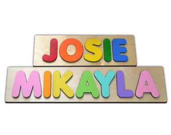 Funky Fonts Personalized Wooden Name Puzzles Child's Name