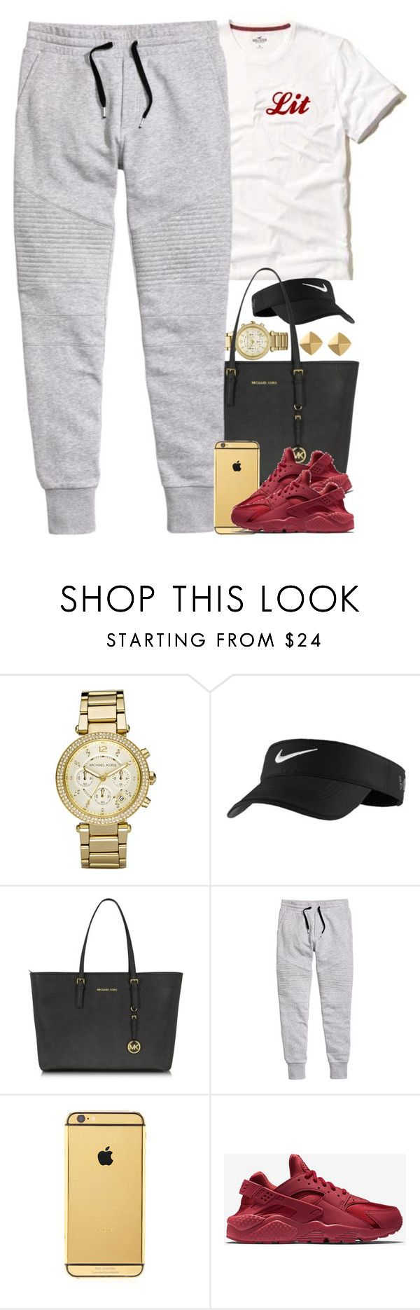 """""""Untitled #1548"""" by power-beauty ❤ liked on Polyvore featuring Michael Kors, NIKE, Goldgenie and Vince Camuto"""
