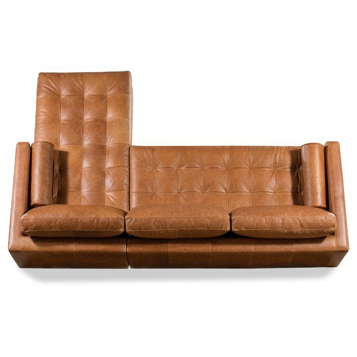 Kate 104 5 Genuine Leather Sofa Chaise Leather Couches Living Room Tan Leather Couch Living Room Leather Sectional Sofas