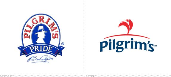 Pilgrim's Pride Logo, Before and After