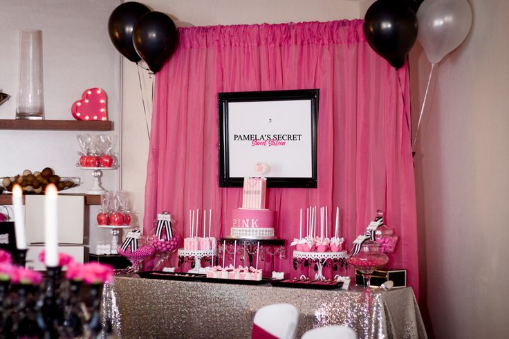 "Victoria Secret ""PINK"" Birthday Party Ideas 