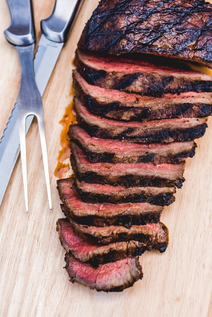 Grilled Marinated London Broil - an easy way to make an inexpensive cut of meat into a tender, perfect steak