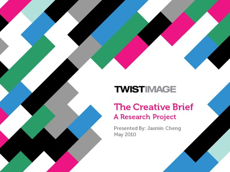 the-creative-brief-a-research-project by Jasmin Cheng via Slideshare