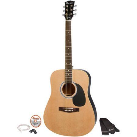 "Free Shipping. Buy Maestro by Gibson MA41BKCH 41"" Full Size Acoustic Guitar Kit at Walmart.com"