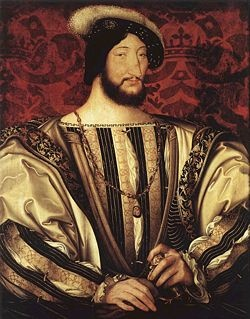 1494 - Francois Ier 1494-1547 (53a), succede Louis XII en 1515  fils de Charles d'Angoulême et de Louise de Savoie, marries Claude de France (fille de Louis XII et Anne de Bretagne), puis  Eleonor d'Autriche (1498-1558), veuve de Manuel Ier de Portugal et soeur de Charles V. 1525, la défaite de Pavie le voit prisonnier de Charles Quint a Madrid pour un an. Il doit envoyer ses enfants Henri II.